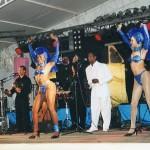 El grupo Sentimiento de Cuba con el gran artista Ángel Salázar